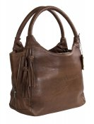 HANDBAG BROWN shoulder bag - LEATHER T.HERMAN
