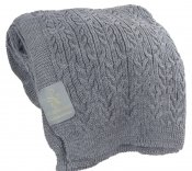 WOOL BLANKET GREY KNITTED 100% wool