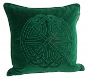 PILLOWCASE VELVET GREEN WITH EMBROIDERY