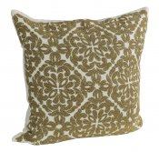 PILLOWCASE HANDMADE EMBROIDERED WHITE/GOLD - POWER
