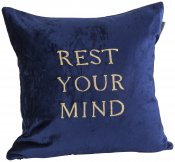 PILLOWCASE REST YOUR MIND - NAVY