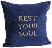 PILLOWCASE REST YOUR SOUL - NAVY