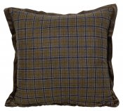 PILLOWCASE WOOL WITH VELVET BORDER OLIVE BROWN - GEILO