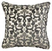 PILLOWCASE GREY/IVORY - FAITH