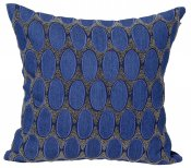 PILLOWCASE JEANS/NAVY VELVET W/beads - VERONA