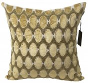 PILLOWCASE BEIGE/GOLD VELVET W/beads - VERONA
