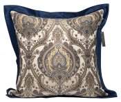 PILLOWCASE JAQUARD BLUE TONES W/FLANGE - carpe diem