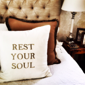 PILLOWCASE REST YOUR SOUL - WHITE