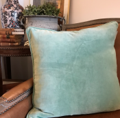 PILLOWCASE VELVET DUSTY GREEN/GREEN