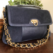 CLUTCH PURPELBLUE - LEATHER/SUADE - GRACE