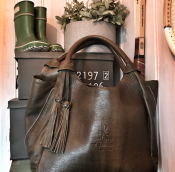 HANDBAG OLIVEGREEN - LEATHER T.HERMAN