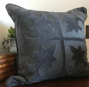PILLOWCASE LINEN DEEP GREY WITH embroidery - COST