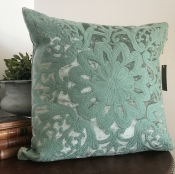 PILLOWCASE DUSTY GREEN VELVET - ROYAL