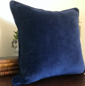 PILLOWCASE BASIC NAVY - MATT VELVET