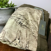 BLANKET KNITTED BEIGE BROWN - MARBLE