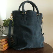 HANDBAG/SHOULDER BAG BLUE - SUEDE - SIGNE