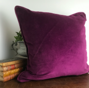 PILLOWCASE  BASCI VELVET BURGUNDY
