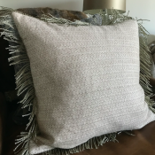 PILLOWCASE OFFWHITE WITH FRINGE