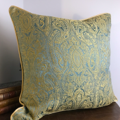 PILLOWCASE GOLD/TOPAS BLUE - SEA