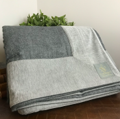 BEDCOVER GREY TONES WOOL - REST