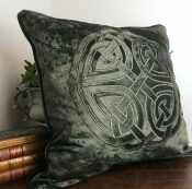 PILLOWCASE VELVET THOUNDER GREY WITH EMBROIDERY - REST
