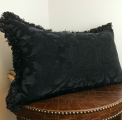 PILLOWCASE BLACK - ELISABETH
