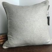 PILLOWCASE GREYBEIGE WOOL WITH CORD - ÅRE
