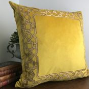 PILLOWCASE LION YELLOW FRAME - ZARI