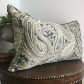 PILLOWCAS GREY BEIGE Paisley - ADAM (40*70 CM)