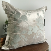 PILLOWCASE SILVERGREY WITH EMBRODERY - PARIS