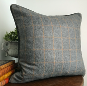 PILLOWCASE WOOL GREY - CORD VELVET GREY
