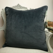 PILLOWCASE BASIC VELVET GREYBLUE