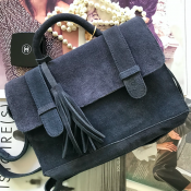 HANDBAG NAVY - SUEDE - MODEL RITA