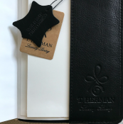 NOTEBOOK BLACK - LEATHER T.HERMAN