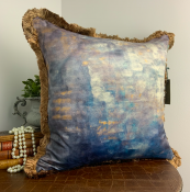 PILLOWCASE PAINTING - BLUE GOLD - EDITION I