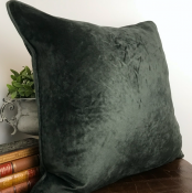 PILLOWCASE  BASIC VELVET SHINY ANTHRACITE