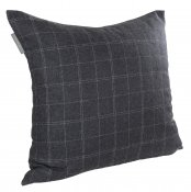 PILLOWCASE WOOL DARK GREY
