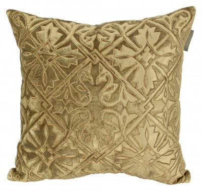 PILLOWCASE BEIGE GOLD VELVET  - QUEEN