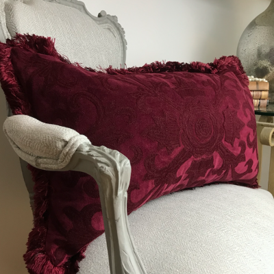 PILLOWCASE BURGUNDY - ELISABETH